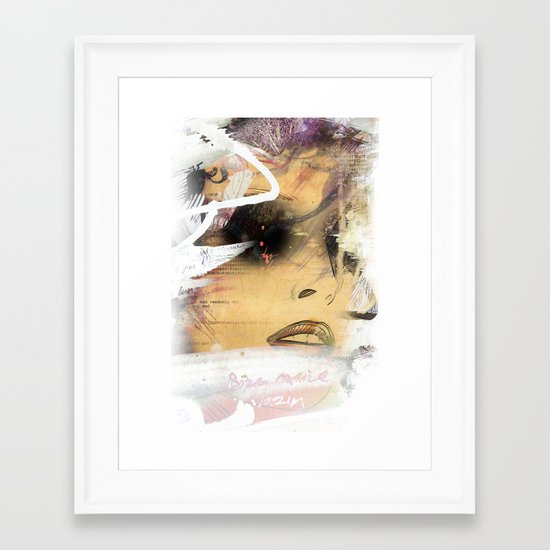 Eyes 2 Framed Art Print