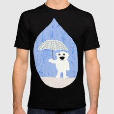 Rain Mens Fitted Tee SMALL Black
