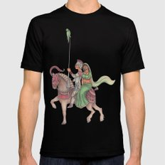 Indian Knight SMALL Mens Fitted Tee Black