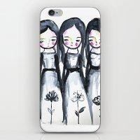 3 Girls Black And White iPhone & iPod Skin