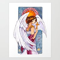 Giovanna - Art Nouveau Angel Art Print