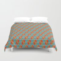 Tile Pattern 2 Duvet Cover
