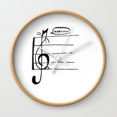 Treble Clef Cat Wall Clock