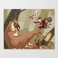 Knubby The Dwarf Fights … Canvas Print