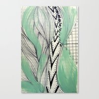 Canvas Print featuring Vintage pattern by Stroke a Bird