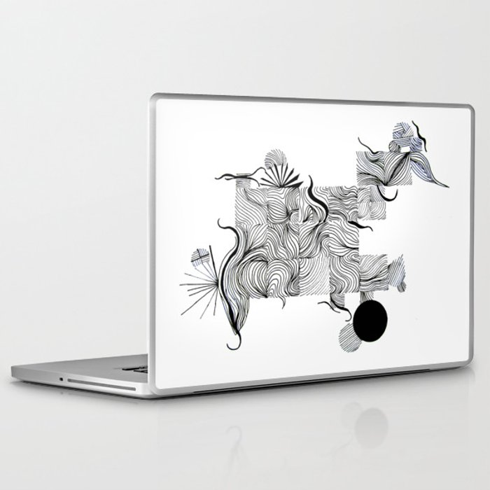 Line Art Laptop : Abstract line drawing laptop ipad skin by treelovergirl