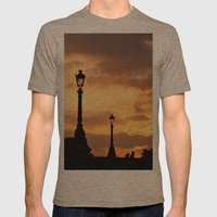 A sunset in Paris Mens Fitted Tee Tri-Coffee SMALL