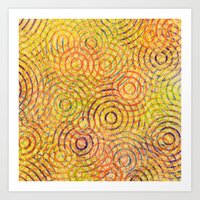 Rainbow Drizzle Art Print