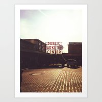Pike Place Market @ Seat… Art Print
