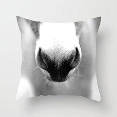 Donkey Nose Throw Pillow