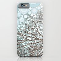 A Dream in Winter abstract whimsical landscape snow tree branches birds iPhone 6 Slim Case