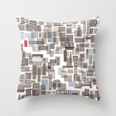 mapping home 4 Throw Pillow