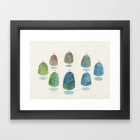 mountain reunion Framed Art Print