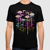 Flamingo Land Mens Fitted Tee Black SMALL