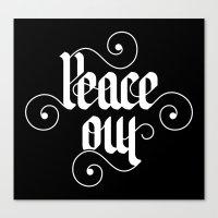 peace out Canvas Print