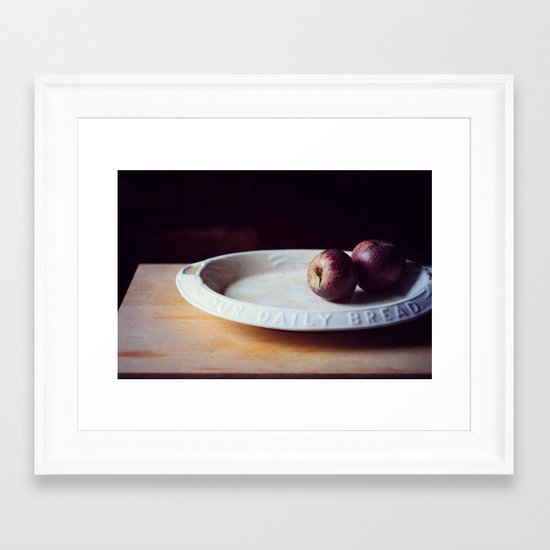 our daily bread Framed Art Print