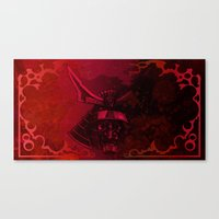 Kabuto With Mempo Canvas Print