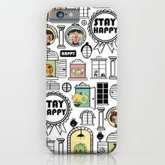 Pattern Stay Happy Animals iPhone 6 Slim Case