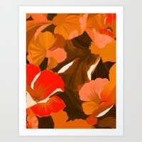 Donna's Autumn Woodcut Art Print