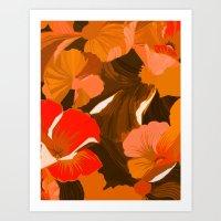 Donna's Autumn Woodcut Art Print