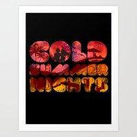 COLD SUMMER NIGHTS Art Print