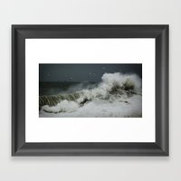 hokusai inspired Framed Art Print