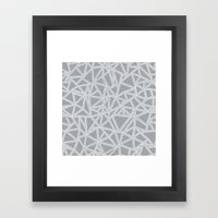 Abstract New Grey Framed Art Print