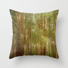 July forest Throw Pillow
