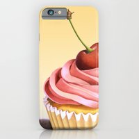 iPhone & iPod Case featuring Pink Cupcake II by Patricia Shea Designs