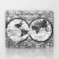 World Map Black And Whit… Laptop & iPad Skin