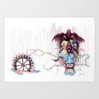 Cuckoo's Nested Fear Art Print