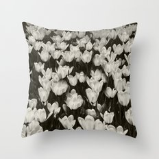 Field of white butterflies  Throw Pillow