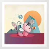 Art Print featuring Fly By by /CAM