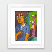 Johnny Delusional Framed Art Print