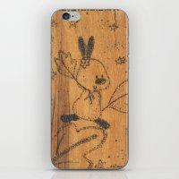 Cute little animal on wood iPhone & iPod Skin
