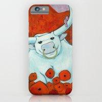 Bull In Poppies iPhone 6 Slim Case