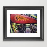 Indian Motorcycle  Framed Art Print