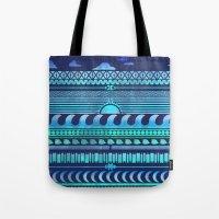 Aqua   Tribal Tote Bag