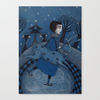 December Park (2) Canvas Print