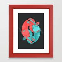 'Round Their Throats Framed Art Print