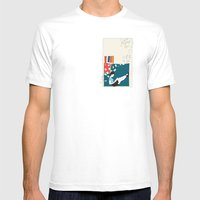 Sitting Mens Fitted Tee White SMALL