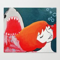 shark week dreams Canvas Print