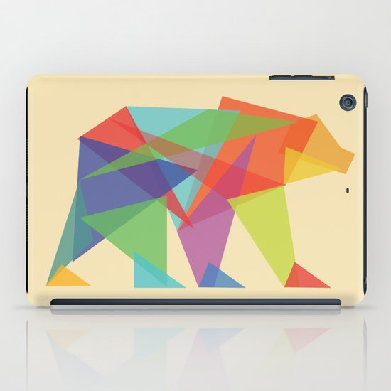 Fractal Geometric bear iPad Case