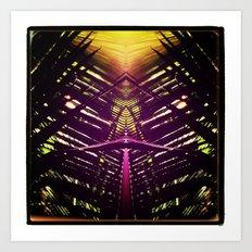 kaleidoscope palm Art Print