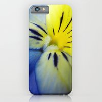iPhone & iPod Case featuring Flower Blue Yellow by KASSABLANKA