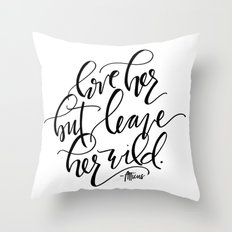 Leave Her Wild Throw Pillow