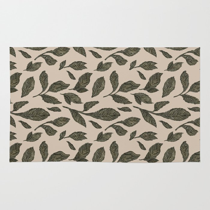 Leaf Pattern Rug By Jessica Roux Society6