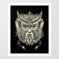 Green Man Art Print