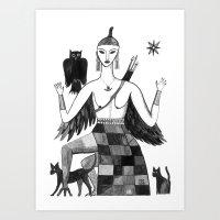 Ishtar, Queen Of The Nig… Art Print
