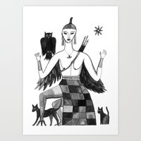 Ishtar, Queen Of The Nig… Art Print